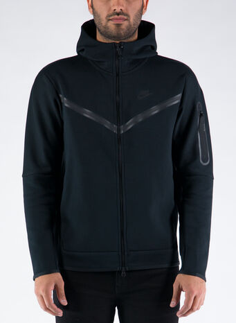 FELPA TECH FLEECE, BLACKBLACK, small
