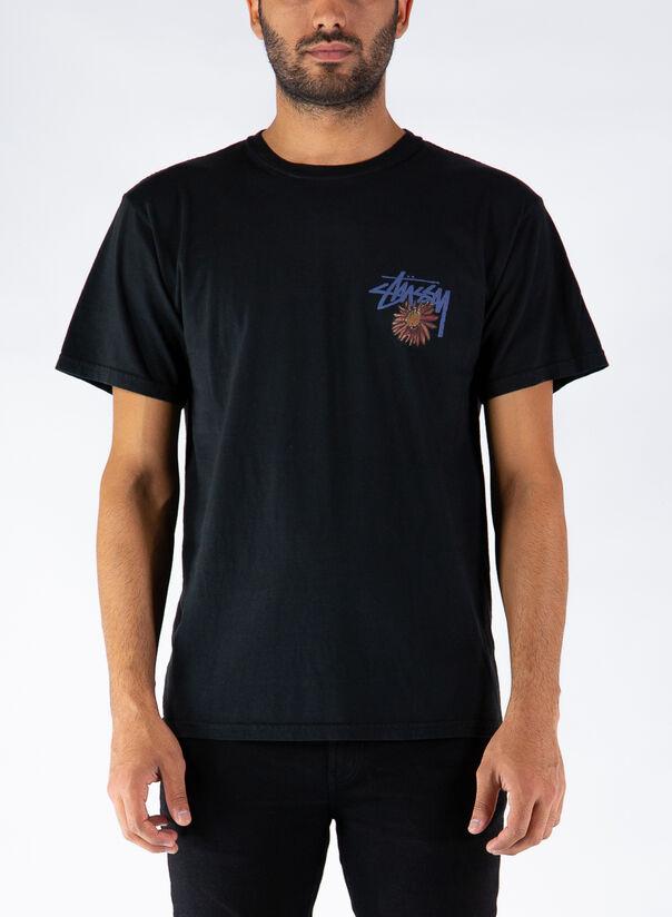 T-SHIRT SMOKIN SKULL, BLACK, large
