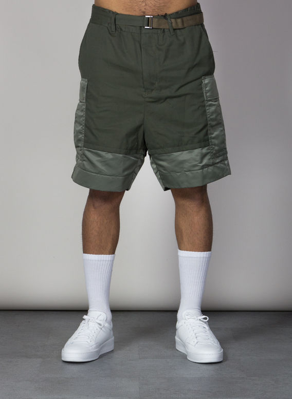 BERMUDA FABRIC COMBO SHORT, KHAKI501, medium