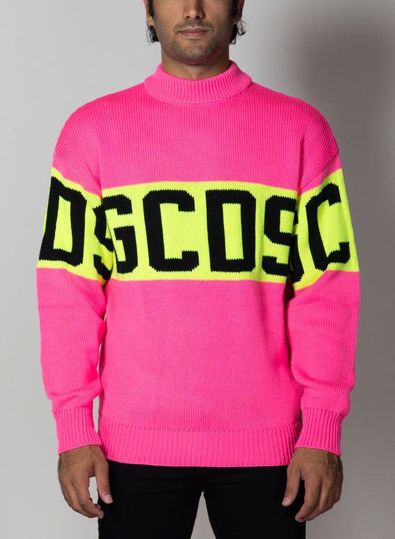 MAGLIONE COLORFUL LOGO SWEATER, 06PINK, medium