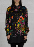 CAMICIA FLORA, 1061BLACKPRINTED, thumb
