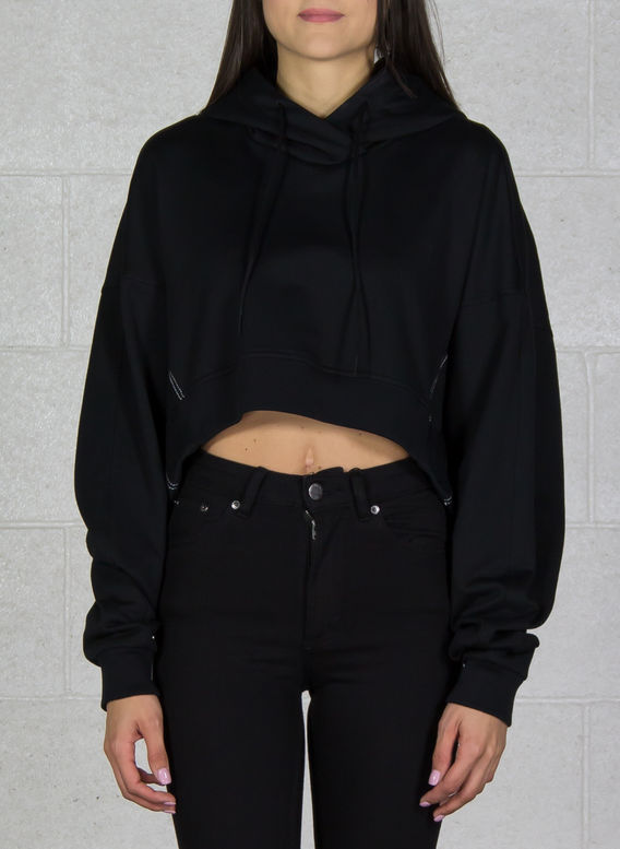 FELPA YOHJI LOVE HOODIE, BLACK, medium