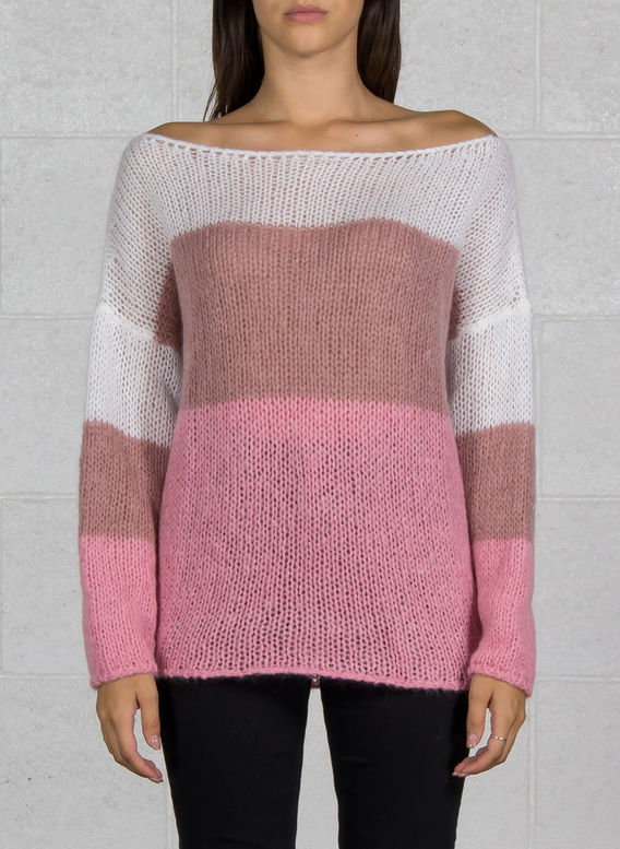 MAGLIA COLOR BLOCK IN MOHAIR, 375MORGANITE, medium