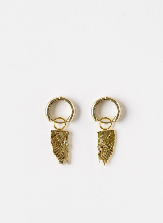 ORECCHINI WINGS, GOLD, medium