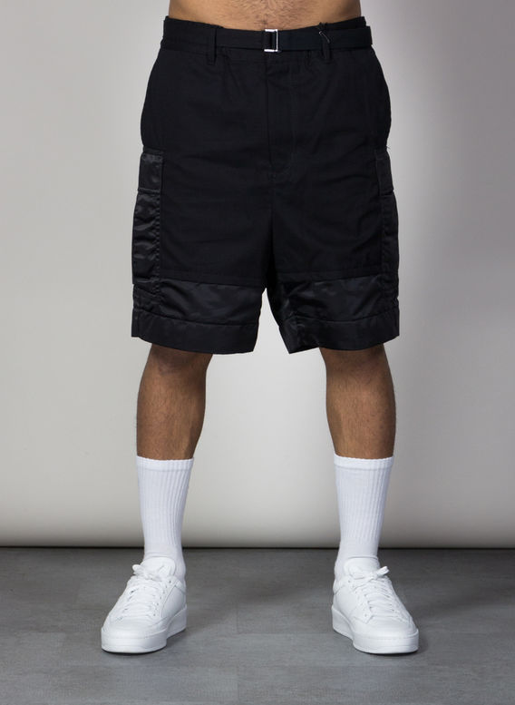 BERMUDA FABRIC COMBO SHORT, BLACK1, medium