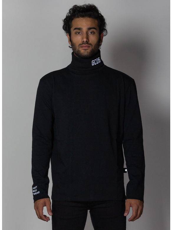 MAGLIA JERSEY TURTLE NECK, 02BLACK, medium