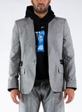 GIACCA UNFINISHED BLAZER, 0600LIGHTGREY, thumb