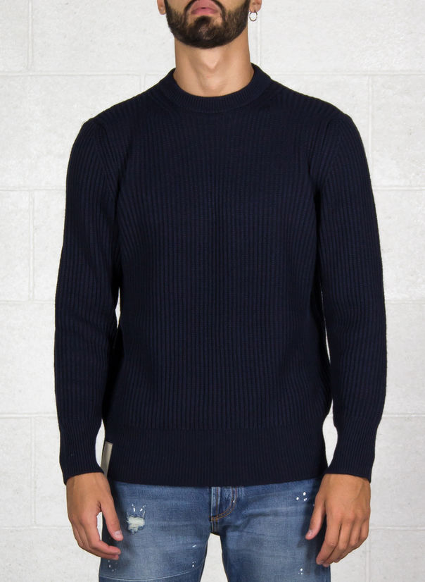 MAGLIONE FUJI, NAVY, large