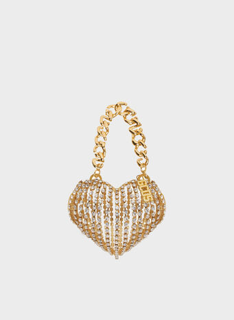 BORSA STONES HEART, GOLD, small