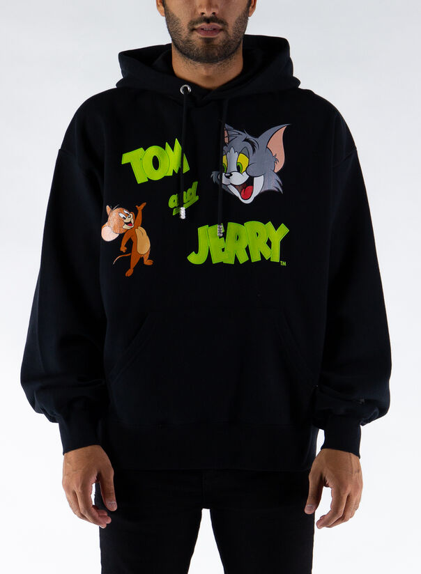 FELPA TOM & JERRY, BLACK, large