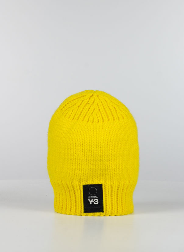 CAPPELLO KNIT BEANIE, YELLOW, large