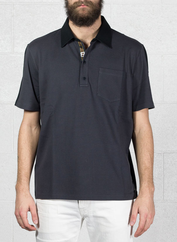 POLO B-COLOR NASTRO, F0UY7ANTRACITE/BLACK, large