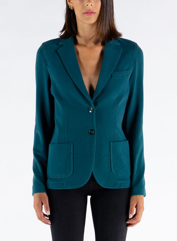 GIACCA SLIM FELPA, 348MALACHITE, medium