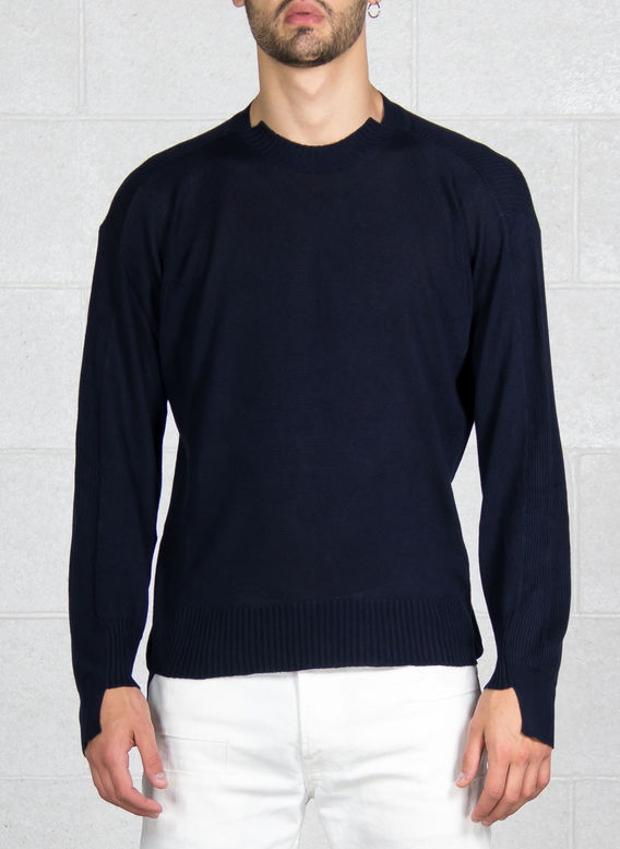 MAGLIONE GIROCOLLO, BLUE, medium