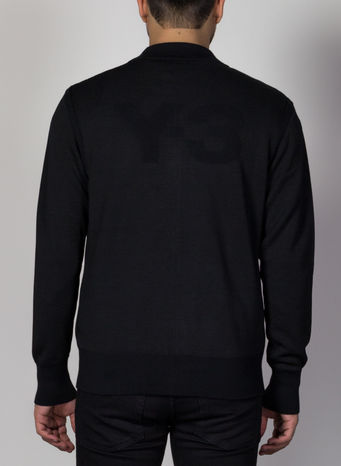 MAGLIONE CLASSIC KNITTED, BLACK, small