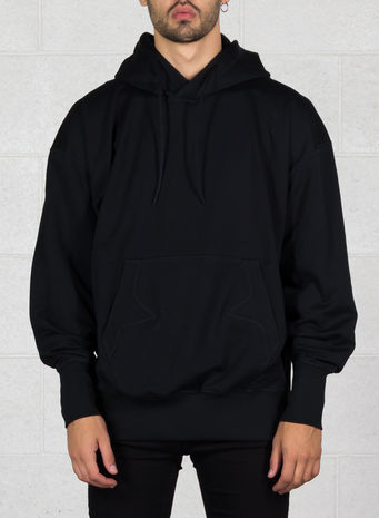 FELPA STACKED LOGO HOODIE, BLACK, small
