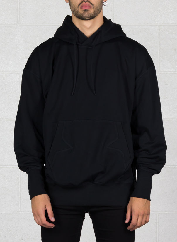FELPA STACKED LOGO HOODIE, BLACK, large