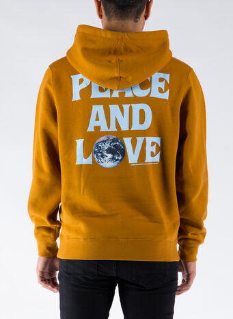 FELPA PEACE & LOVE, CARAMEL, small