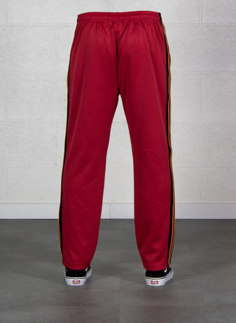 PANTALONE TEXTURED RIB TRACK PANT, RED, small