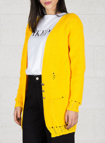 CARDIGAN, GIALLO, small