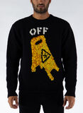 MAGLIONE PASCAL WET FLOOR CREWNECK, 1018BLACK/YELLOW, thumb
