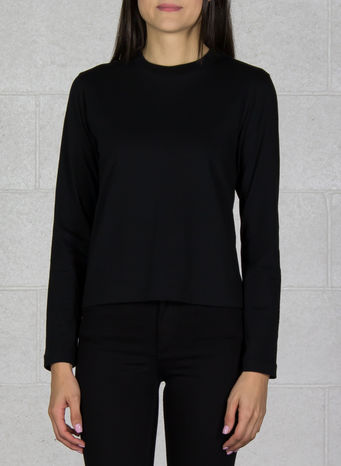 MAGLIA YOHJI LOVE TUBULAR LS TEE, BLACK, small