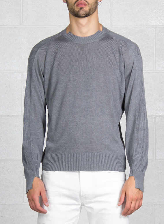 MAGLIONE GIROCOLLO, GREY, medium