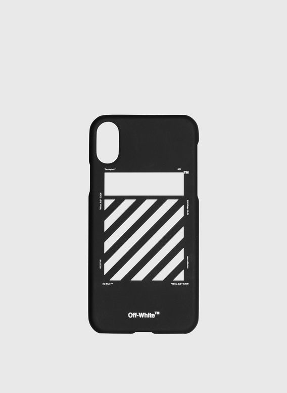 COVER DIAG CARRYOVER IPHONE XS, BLACK/WHITE, medium