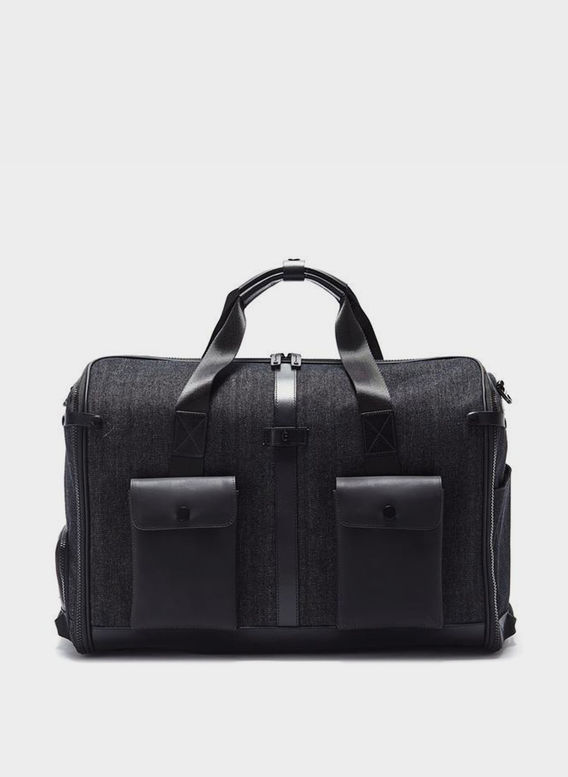 BORSA KINGSMAN DUFFLE BAG, WASHEDDENIMBLACK, medium