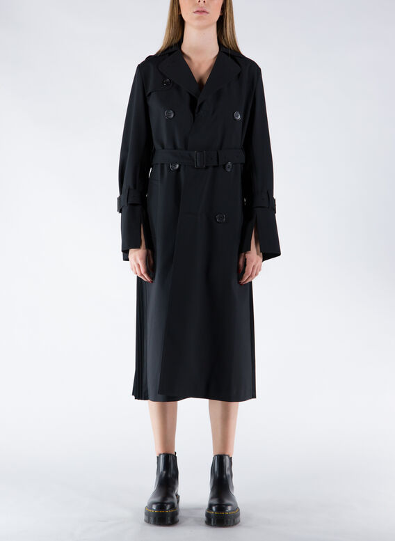 TRENCH BACK ARCHIVE, 1BLACK, medium