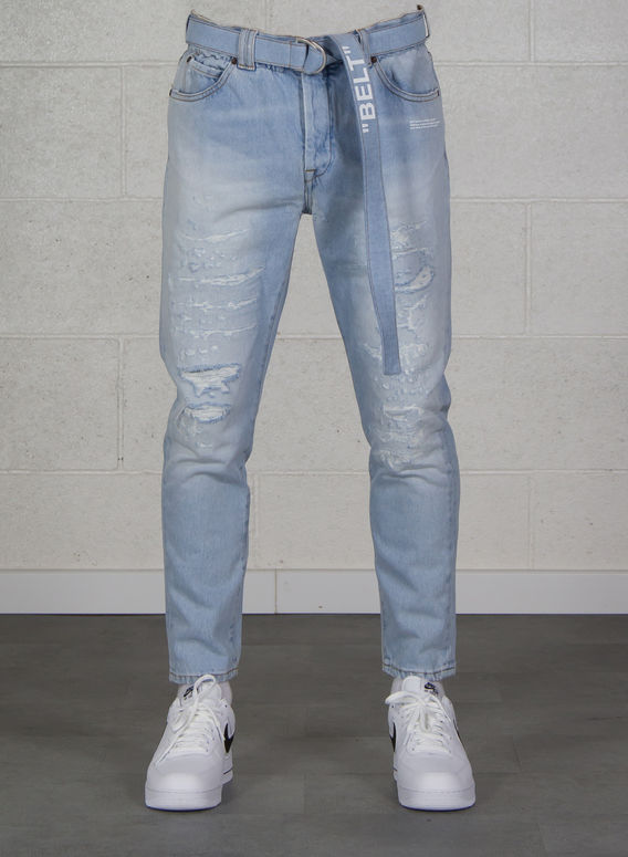 JEANS SLIM LOW CROTCH, LIGHTBLUE/WHITE, medium