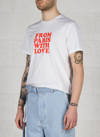 T-SHIRT FROM PARIS WITH LOVE, 100WHITE, small