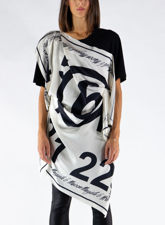 T-SHIRT DRAPED FOULARD, 966, medium