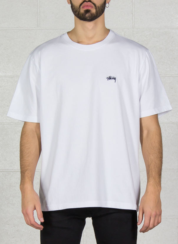 T-SHIRT STOCKS CREW, WHITE, large