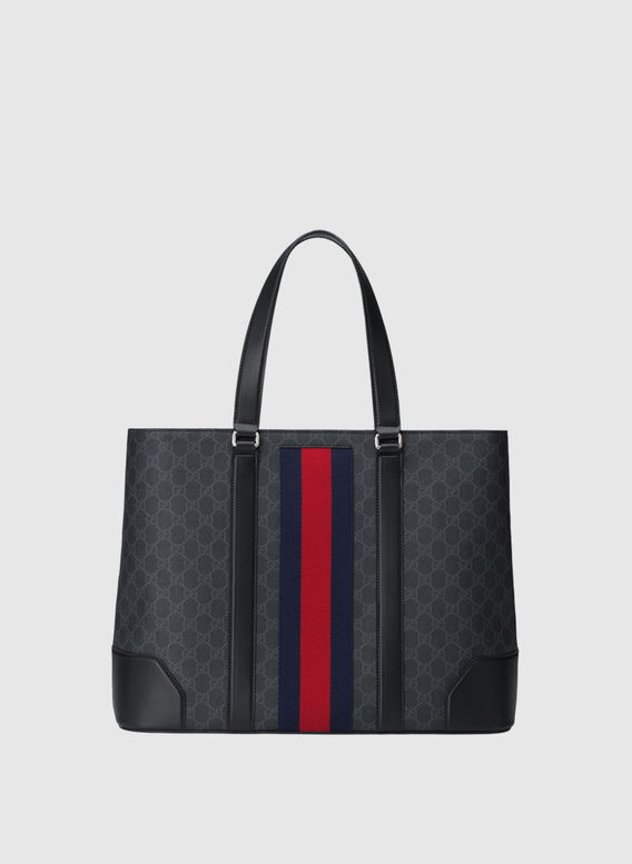 BORSA TOTE GG SUPREME, 1095NERO, medium