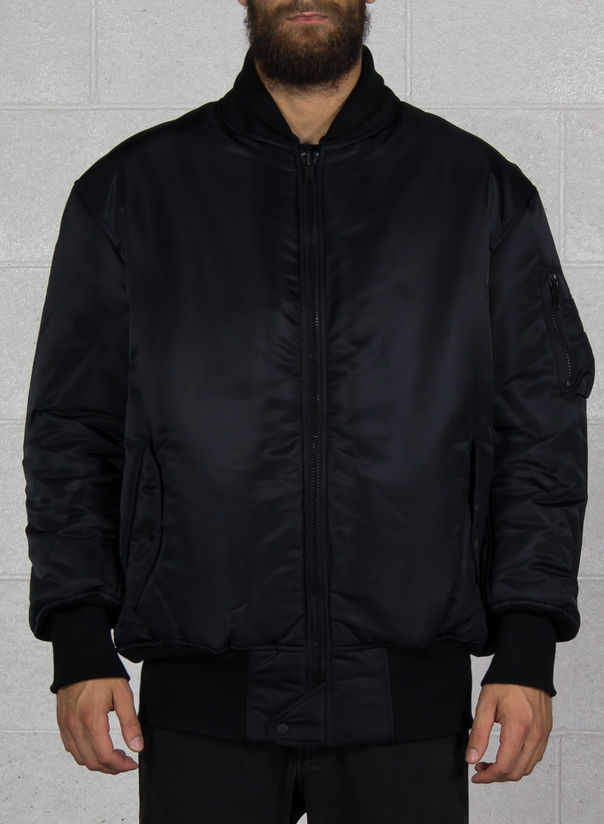 GIUBBOTTO OVERSIZED REVERSIBLE BOMBER, BLACK, large