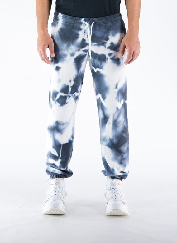 PANTALONE CROSS TIE&DYE RELAX SWEATPANT, 0149WHITEDARK, medium