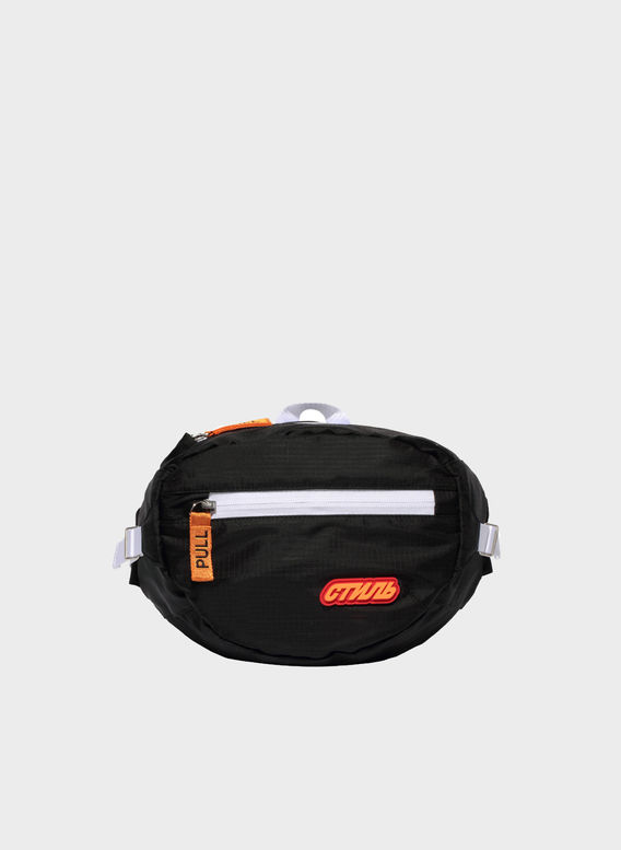 MARSUPIO CTNMB PADDED FANNY PACK, BLACK/ORANGE, medium