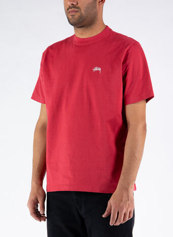 T-SHIRT STOCK LOGO CREW, RED, small