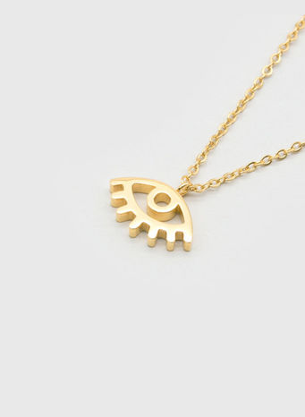 COLLANA KUKO NECKLACE EYE, GOLD, small