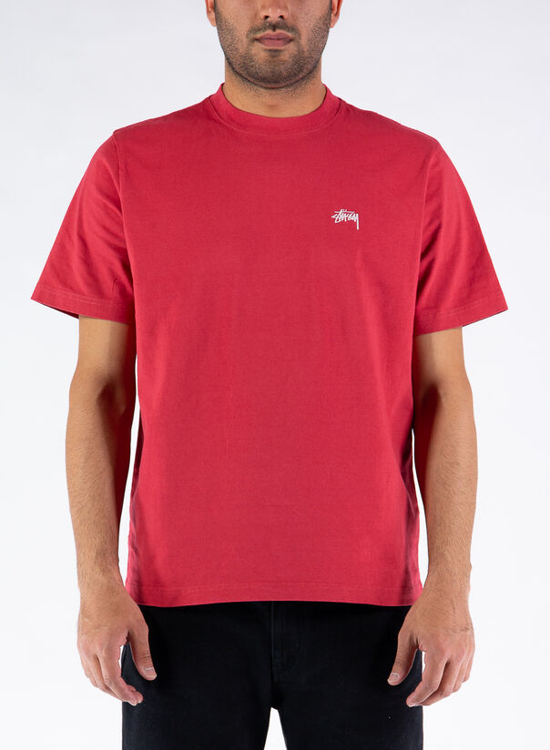 T-SHIRT STOCK LOGO CREW, RED, large