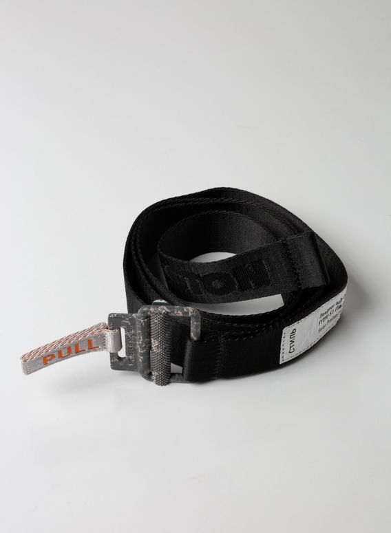 CINTURA TAPE BELT, BLACK, medium