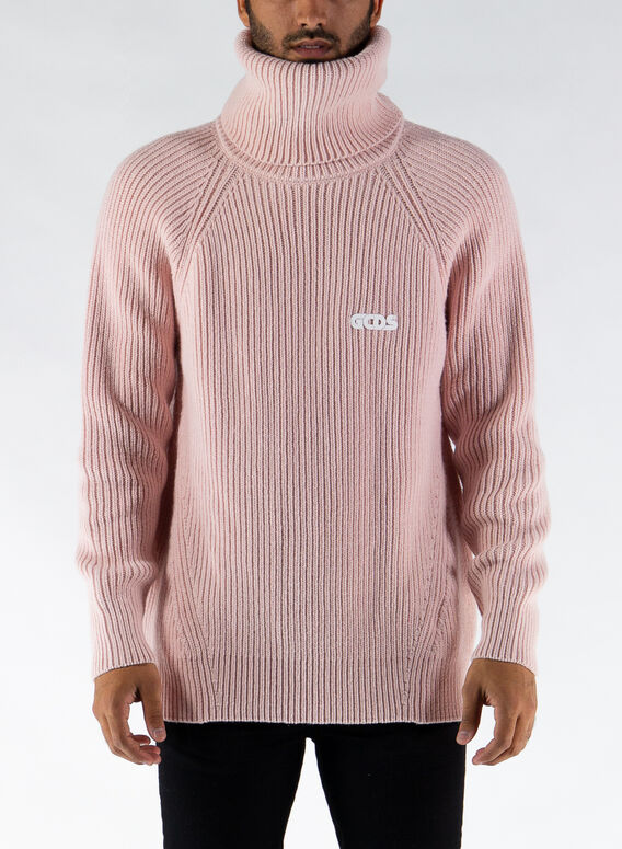 MAGLIONE TURTLENECK SWEATER, PINK, medium