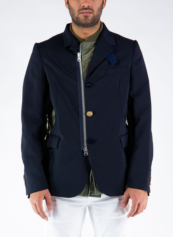 GIACCA SUITING, NAVYXKHAKI212, large