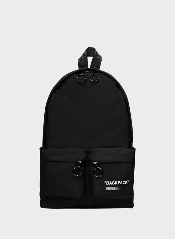 ZAINO QUOTE BACKPACK, BLACK/WHITE, medium