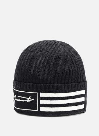 CAPPELLO BEANIE 3-STRIPES, BLACK, small