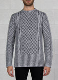 MAGLIONE JACQUARD CABLE KNIT PRINTED, 081_OFFWHITE, thumb