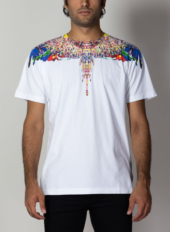 T-SHIRT MULTICOLOR WINGS, WHITE/MULTICOLOR, medium