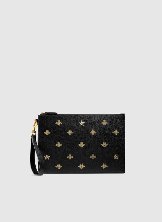 BORSA POUCH BEE STAR, 8474NEROORONERO, medium