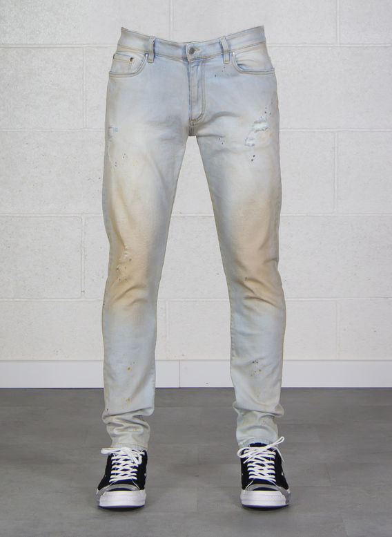 JEANS DISTRESSED DENIM, BLACKBLEACH, medium